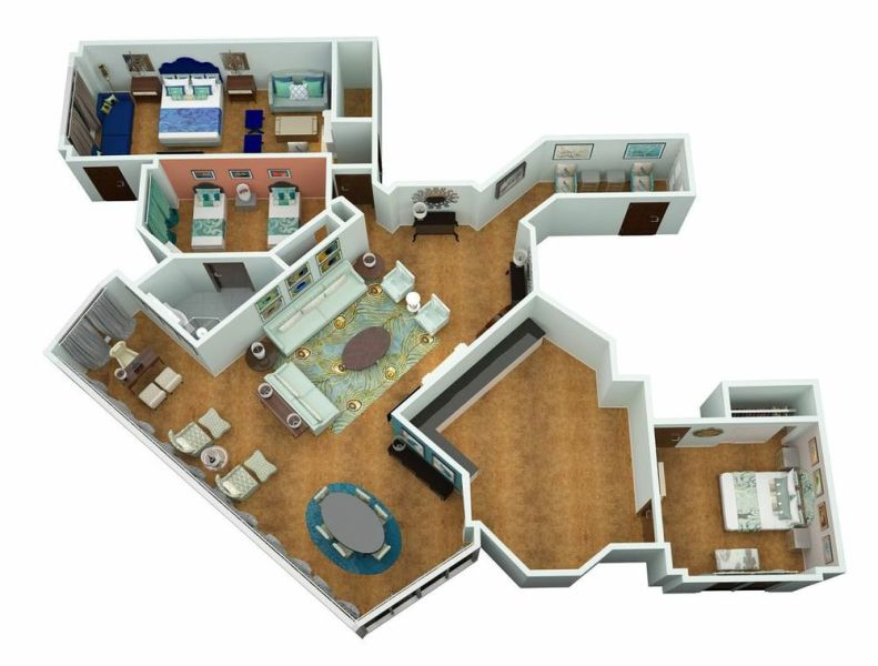 3D Floor Plans   Renderings   Visualizations   FAST Delivery 3d floor plans 3 jpg