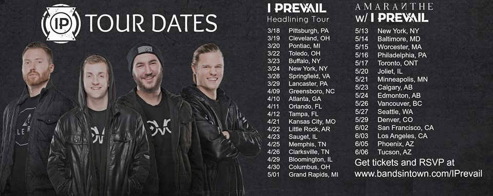 Taken from the I Prevail Facebook Page