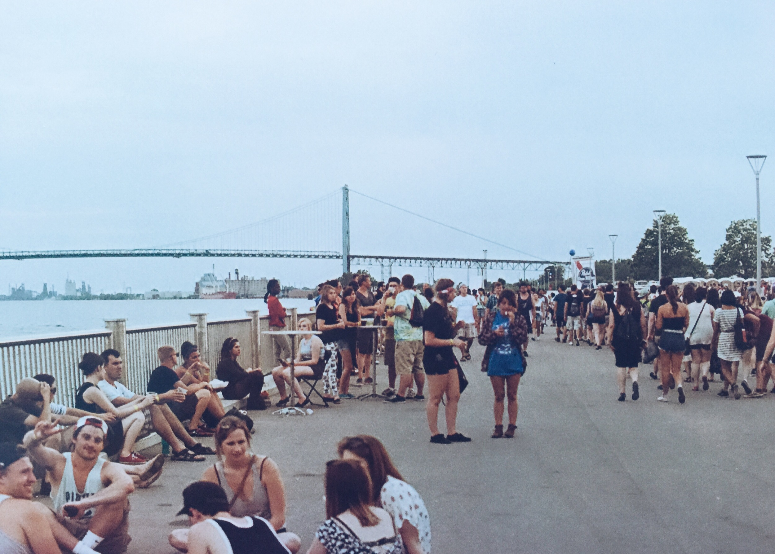 The Crowd at MOPOP 2015 hanging out on the Riverwalk Strip. Film Photo By Acronym Creative Studio