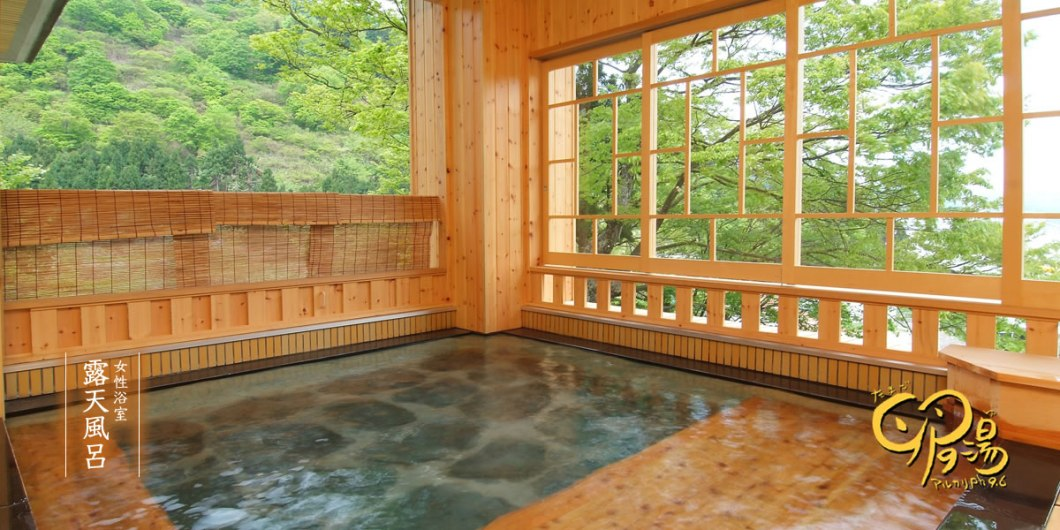 The rotenburo in the female baths at Takahan -http://www.takahan.co.jp/english.html