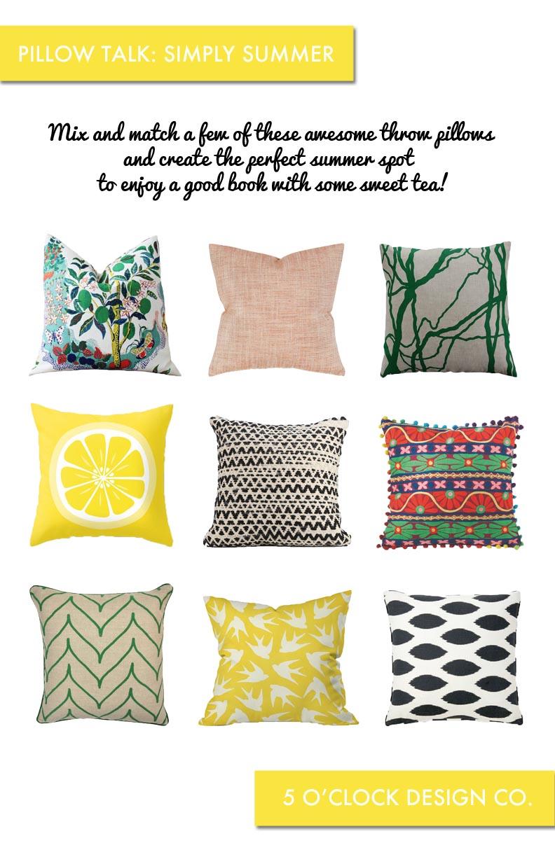 pillow talk simply summer 5 o clock design co
