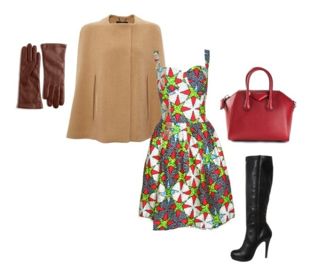 Dress:Fashion Conscience|| Wool Cape:Avenue22 || Boots:Anna Field|| Tote:Givenchy || Gloves:Lord&Taylor
