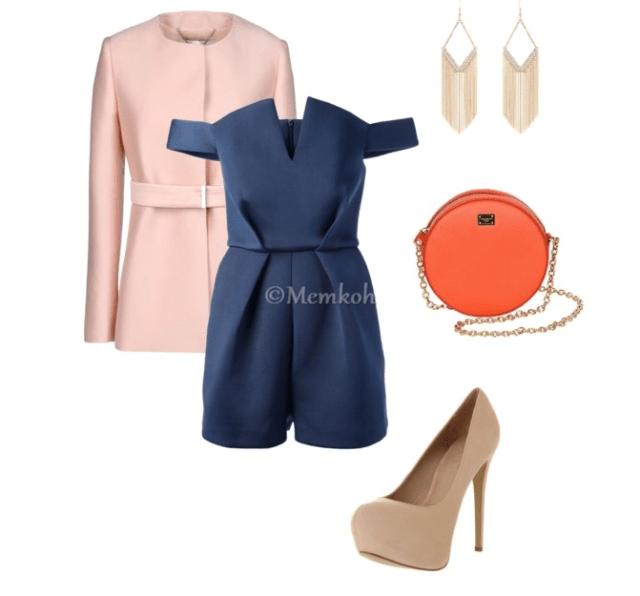 Romper:Paper London|| Coat:Stella McCartney|| Pumps:Office.co.uk|| Bag:Dolce & Gabbana|| Earrings:Jane Norman