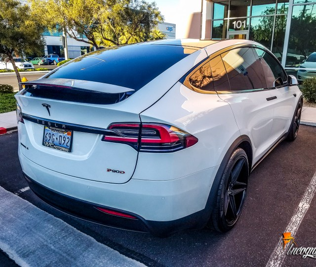 Tesla Model X Chrome Delete Calipers