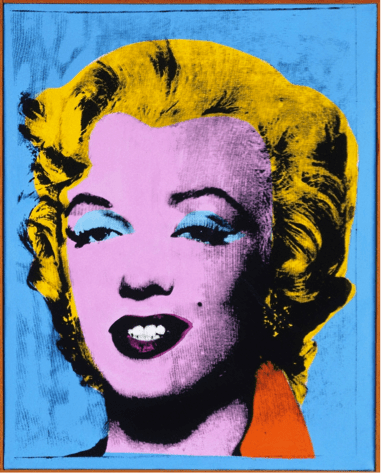 Andy Warhol, American, 1928–1987   Blue Marilyn, 1962  Acrylic and screen print ink on canvas  Gift of Alfred H. Barr Jr., Class of 1922, and Mrs. Barr  y1978-46