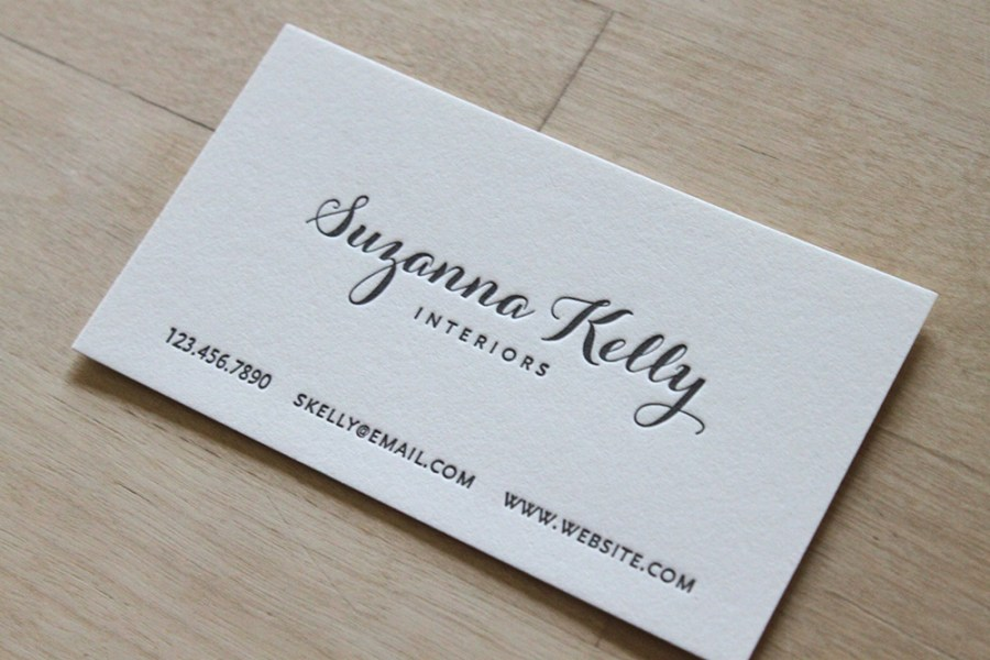 Modern Calligraphy   Letterpress Business Cards     Brooklyn Social Cards Modern Calligraphy   Letterpress Business Cards