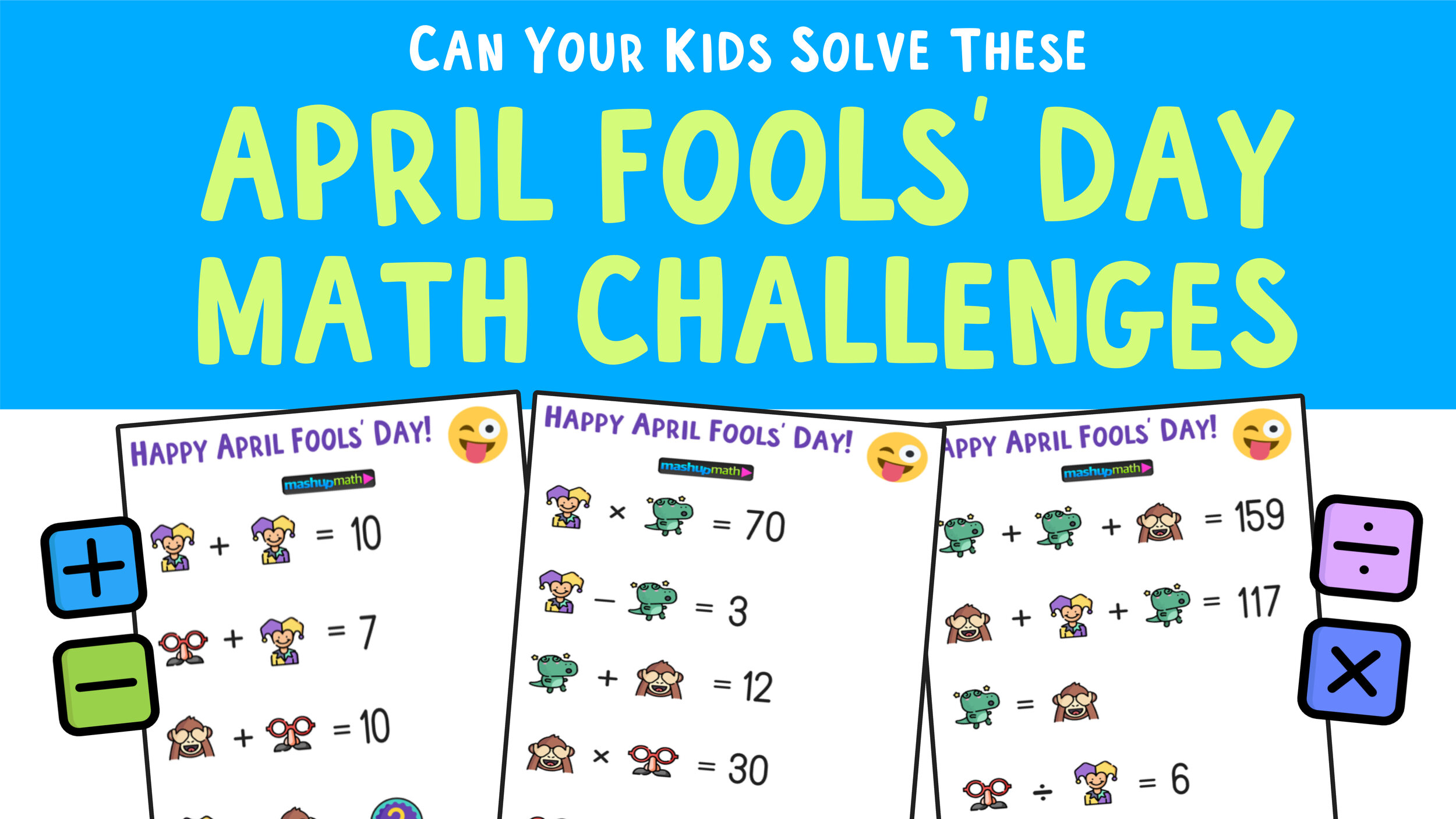 April Fools Day Math Puzzle For Grades 1 6