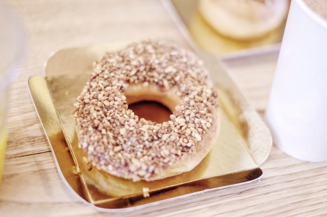 Donut pralines et chocolat