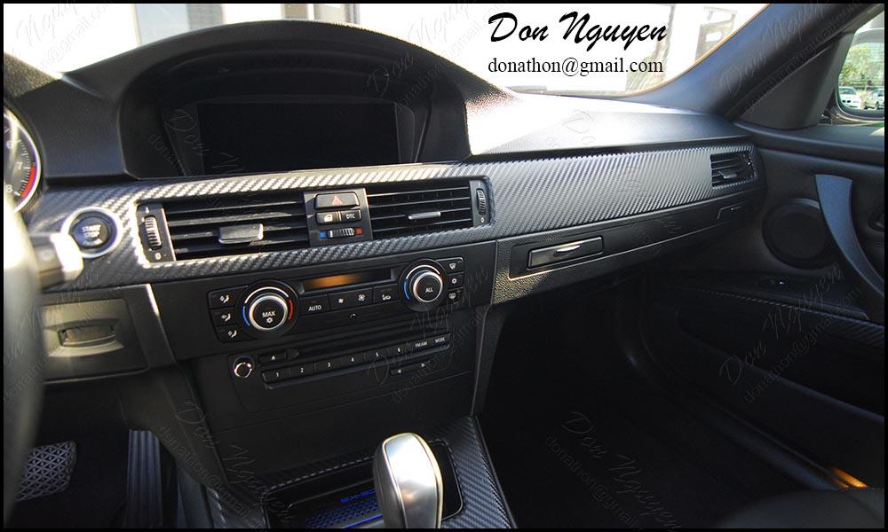 BMW E92 335i Coupe Matte Carbon Fiber Interior Vinyl