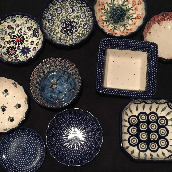 My collection of Polish crafted potteries