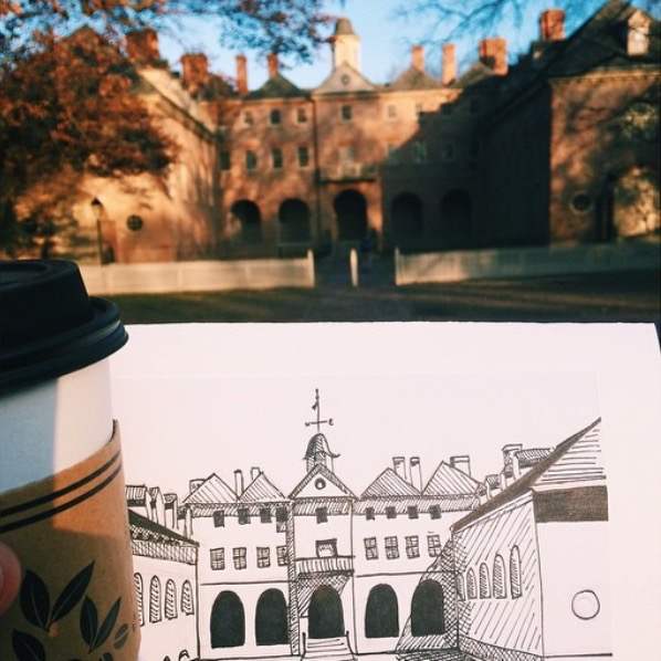 The Wren Building by Sarah Martin, @smartinn_
