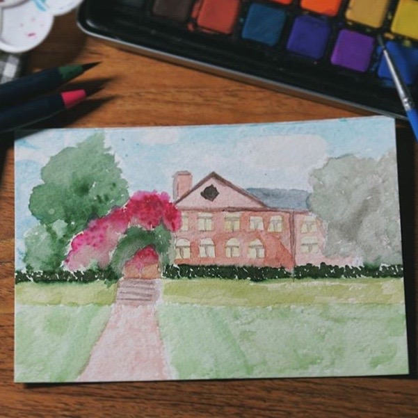 Painted Old Campusby Lexi Chen, @lexi_chennnnnnnnn