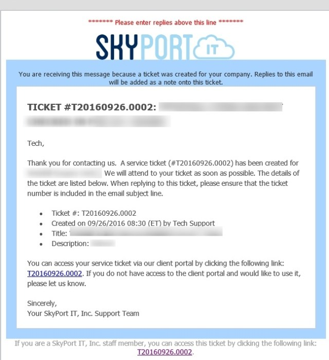 Automatically Created Ticket When Using Help@