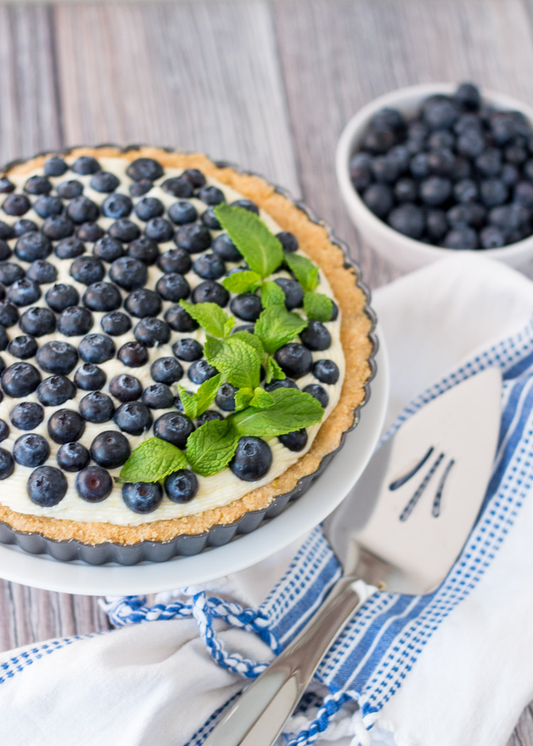 Blueberry and Lemon Chiffon Tart via Butter & Type