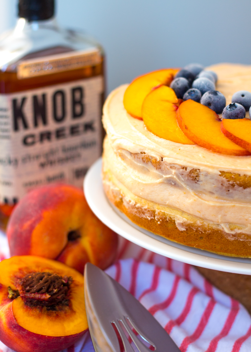 Bourbon Peach Berry Layer Cake by Butter & Type