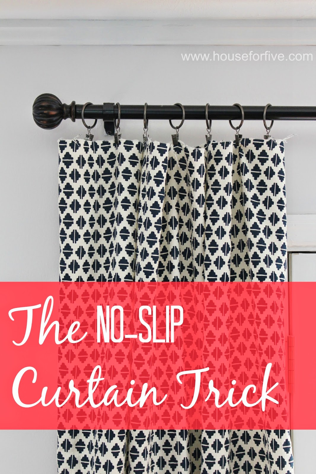 how to keep your curtains from sliding