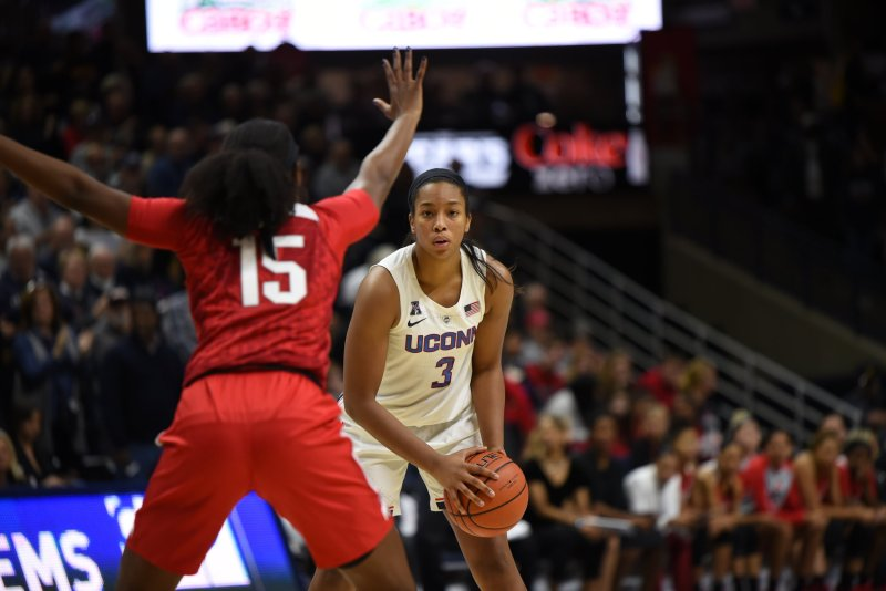 The Huskies will rely on their bench this weekend due to playing three consecutive games. Photo by Charlotte Lao, Photo Editor/The Daily Campus