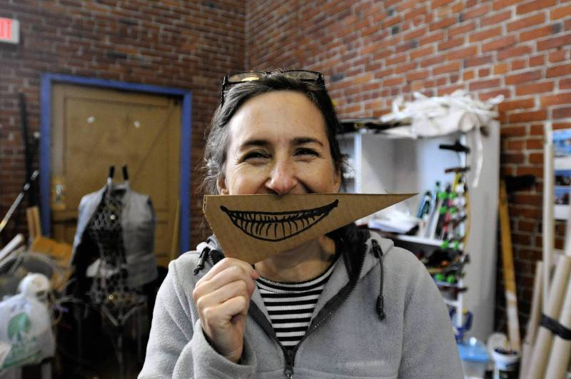 Anne Cubberly is a Hartford visual artist noted for her imaginative kinetic sculpture. (Rick Hartford, rhartford@courant.com)