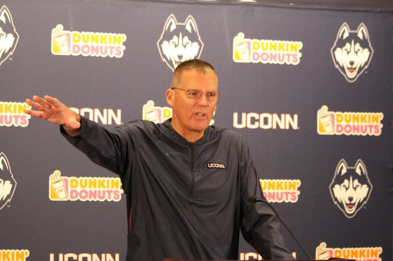 Head coach Randy Edsall and UConn football announced 11 additions to their 2019 recruiting class on Wednesday. (Bryan Lambert/ The Daily Campus)