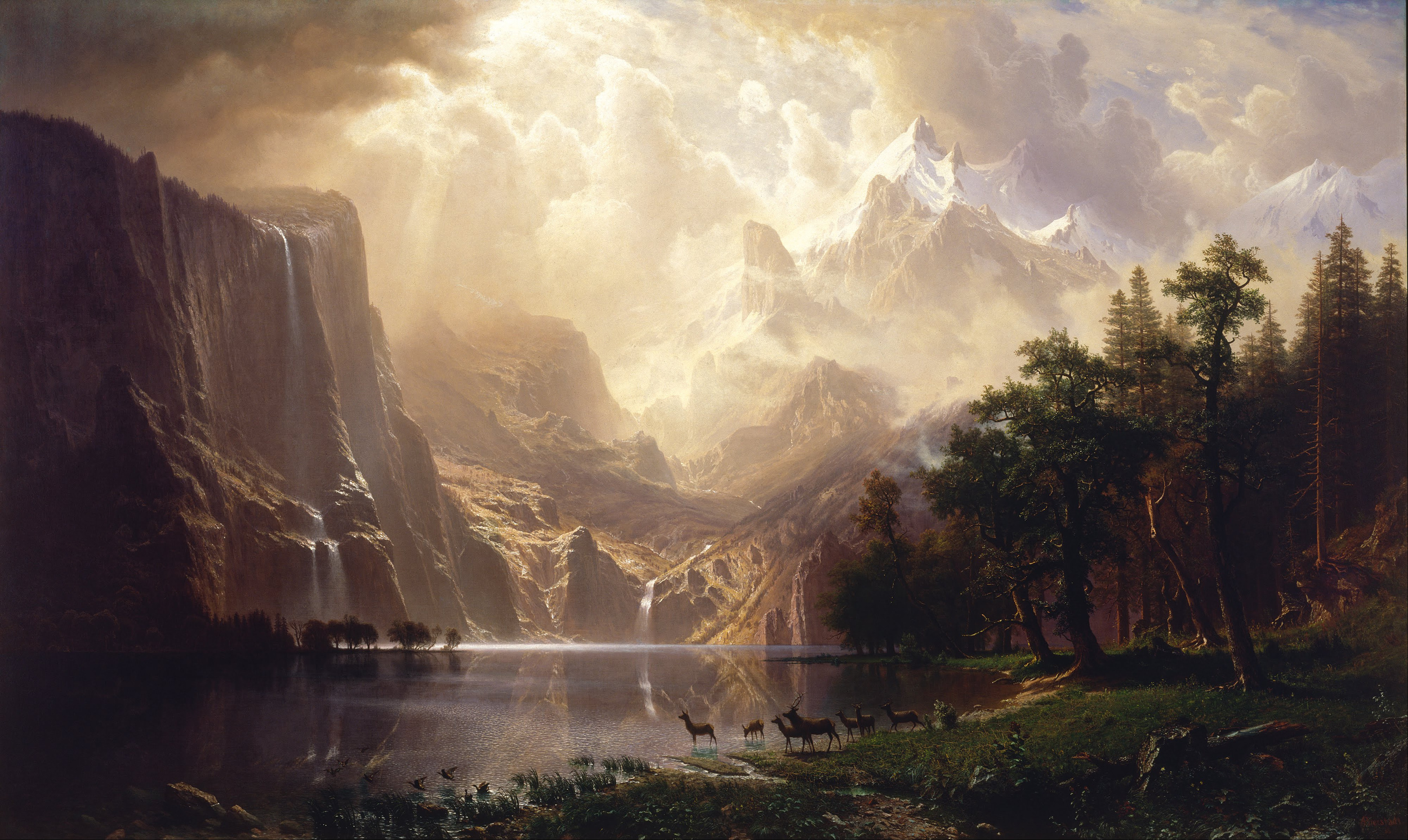 Albert Bierstadt, Among the Sierra Nevada Mountains, California (1868), Smithsonian American Art Museum, Washington, DC.