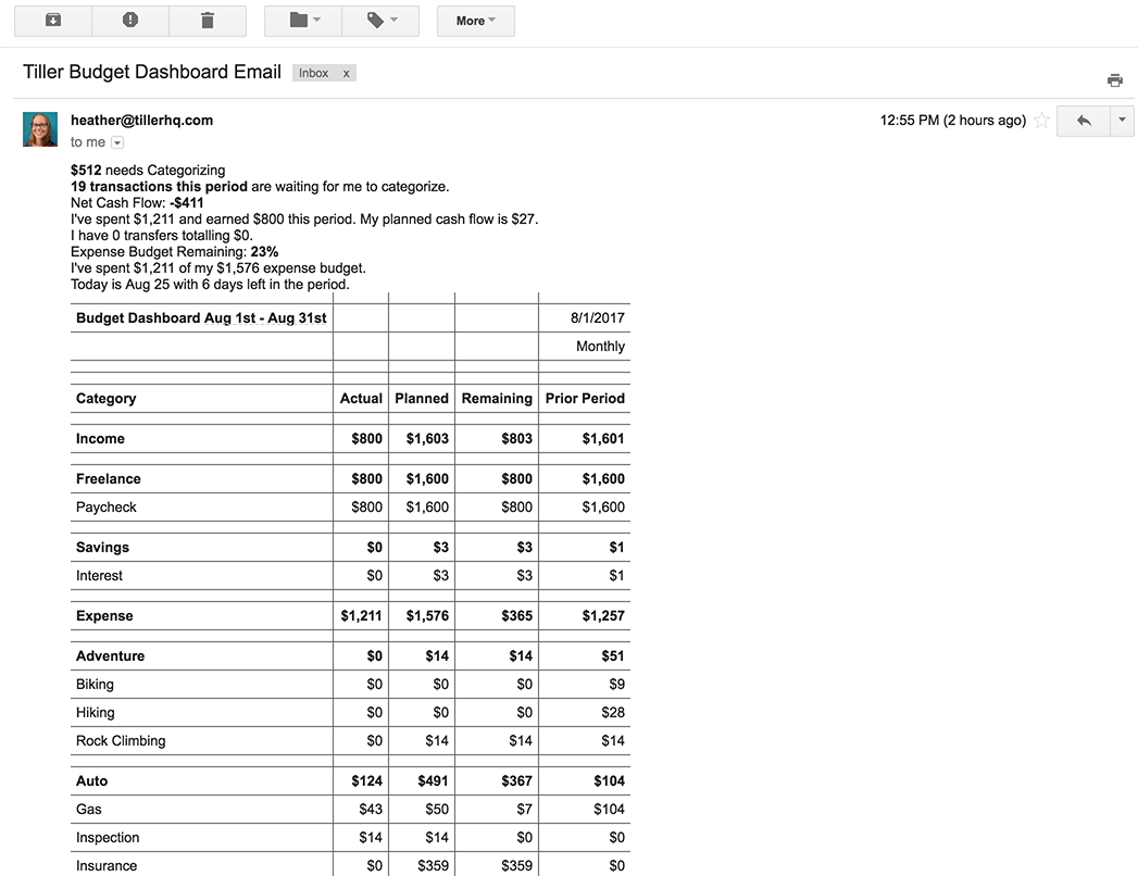 image regarding Daily Sheet titled E-mail A Every day Price range Sheet Conclusion Taking Google Scripts