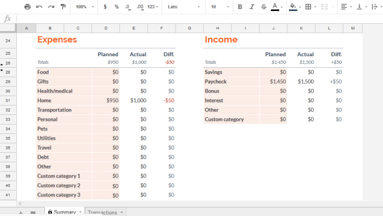 Budgeting With Google Sheets 18 Simple Yet Incredibly Effective Tips
