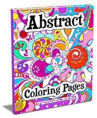 the free abstract coloring page below is filled with fun detailed