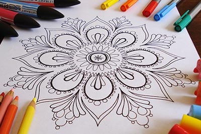 Coloring Printable E Books Published Adult And A Mandala Page By Thaneeya McArdle