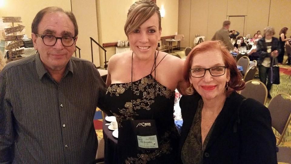 R.L. Stine and his beautiful wife and me!