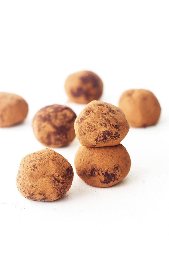 Dark Chocolate Ganache Truffles