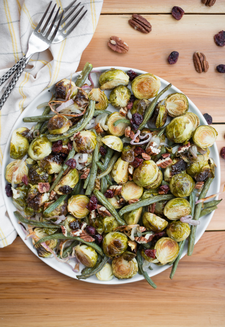 Roasted Green Bean Amp Brussels Sprout Salad Real Food