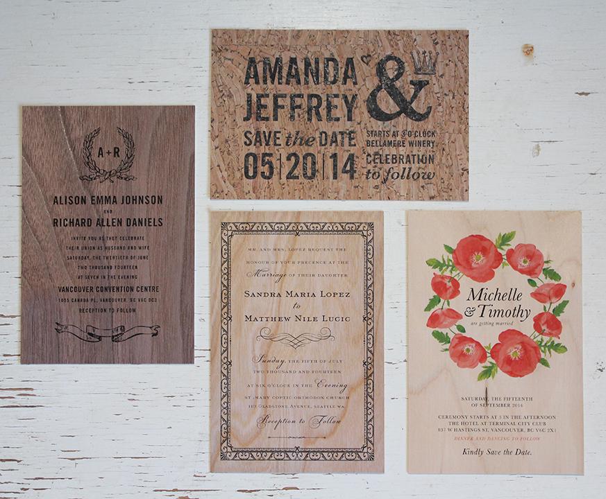 Wood & Cork Wedding Invitations!