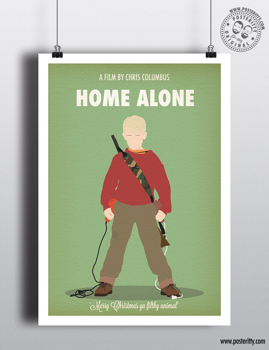 Home Alone Minimalist Christmas Movie Poster Posteritty