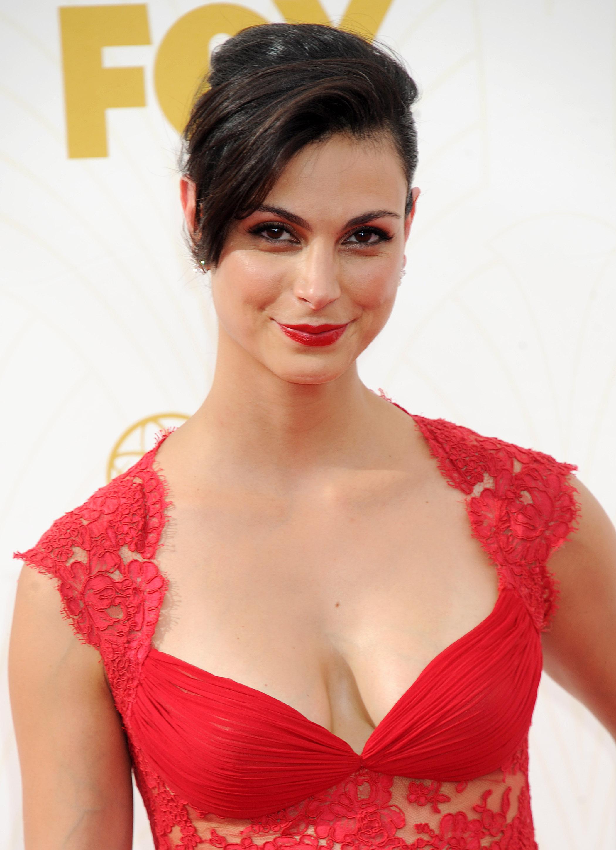 Morena Baccarin At The 2015 Emmy Awards Sascha Breuer