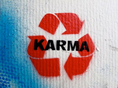 Everything happens based on karma you cannot escape it