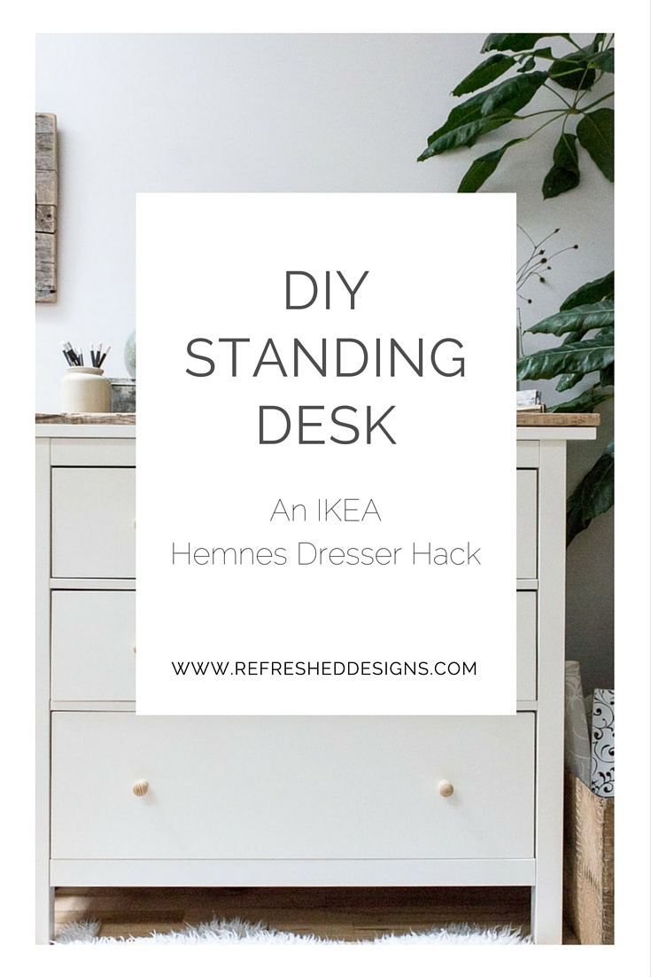 Diy Standing Desk With Ikea Hemnes Dresser Refreshed Designs