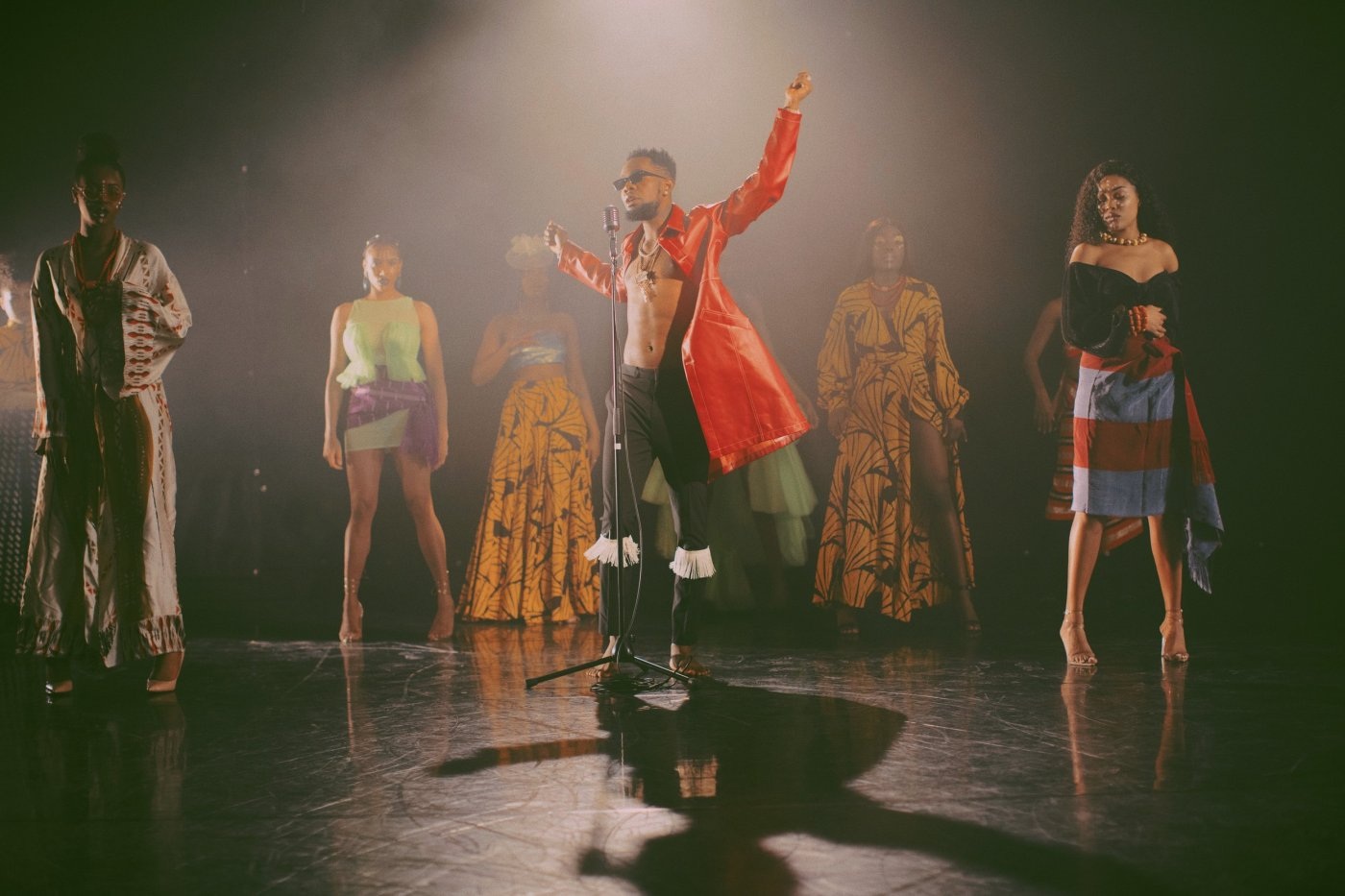 Alexander Julian's styles for Patoranking's Lenge Lenge Is Inspired By Kalakuta Queens