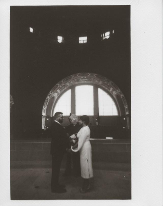 Photographe polaroid à la mairie de San Francisco