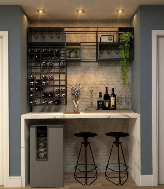 35 Outstanding Home Bar Ideas And Designs — Renoguide Australian   Mini Bar Under Stairs Design   Stairs Cupboard   Escaleras   Interior Design   Basement Stairs   Stair Storage