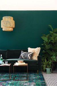 30 Elegant Living Room Colour Schemes     RenoGuide opulent green and gold living room