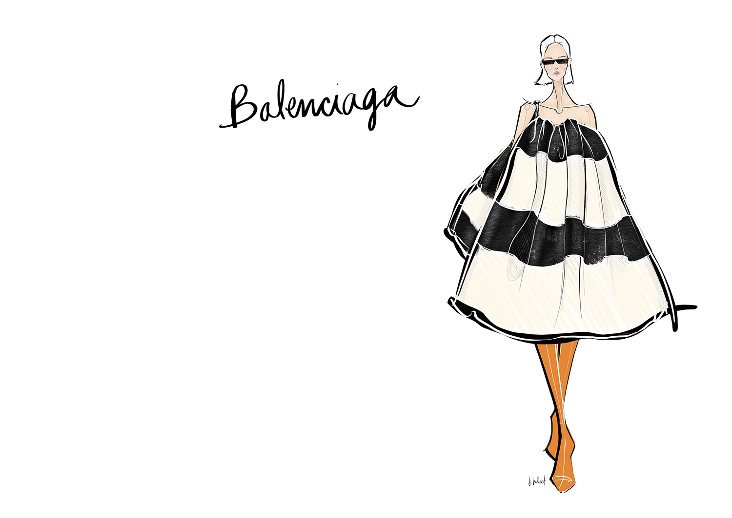 JESSICA JULIET  FASHION ILLUSTRATION BALENCIAGA 1 jpg
