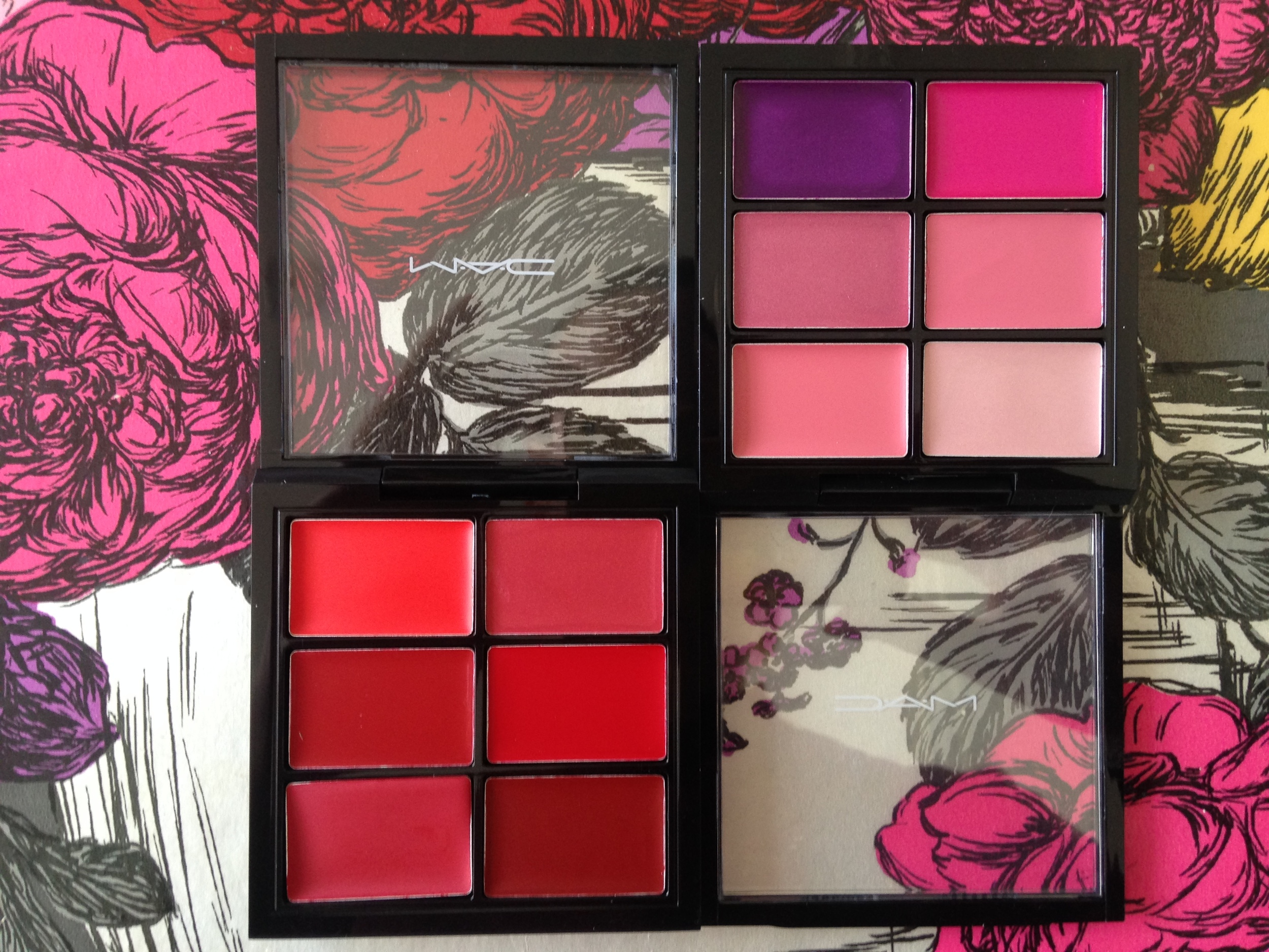 Lip Palettes in Editorial Reds and Preferred Pinks