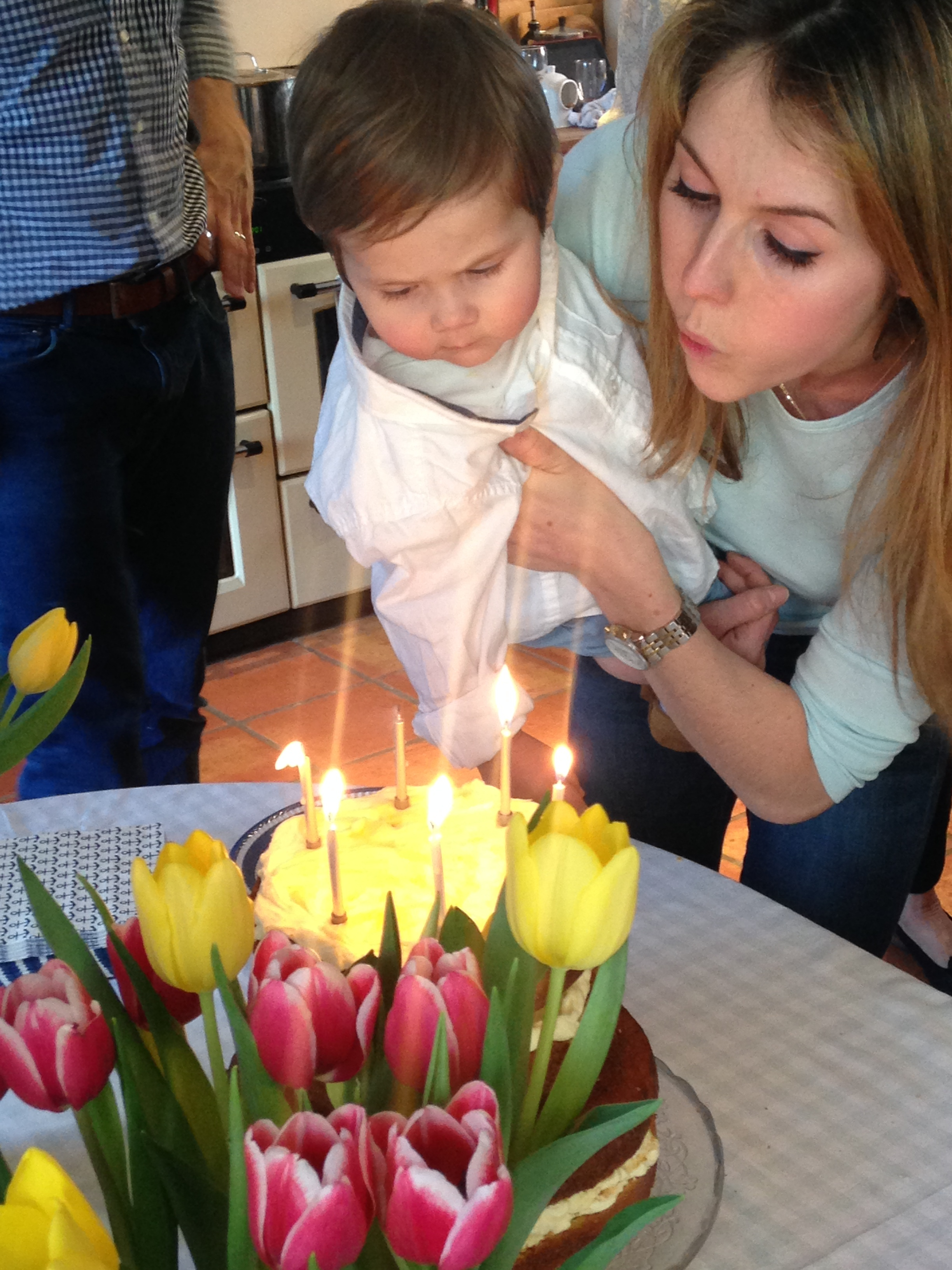 The main man having a bit of help with his birthday candles. Happy birthday G!