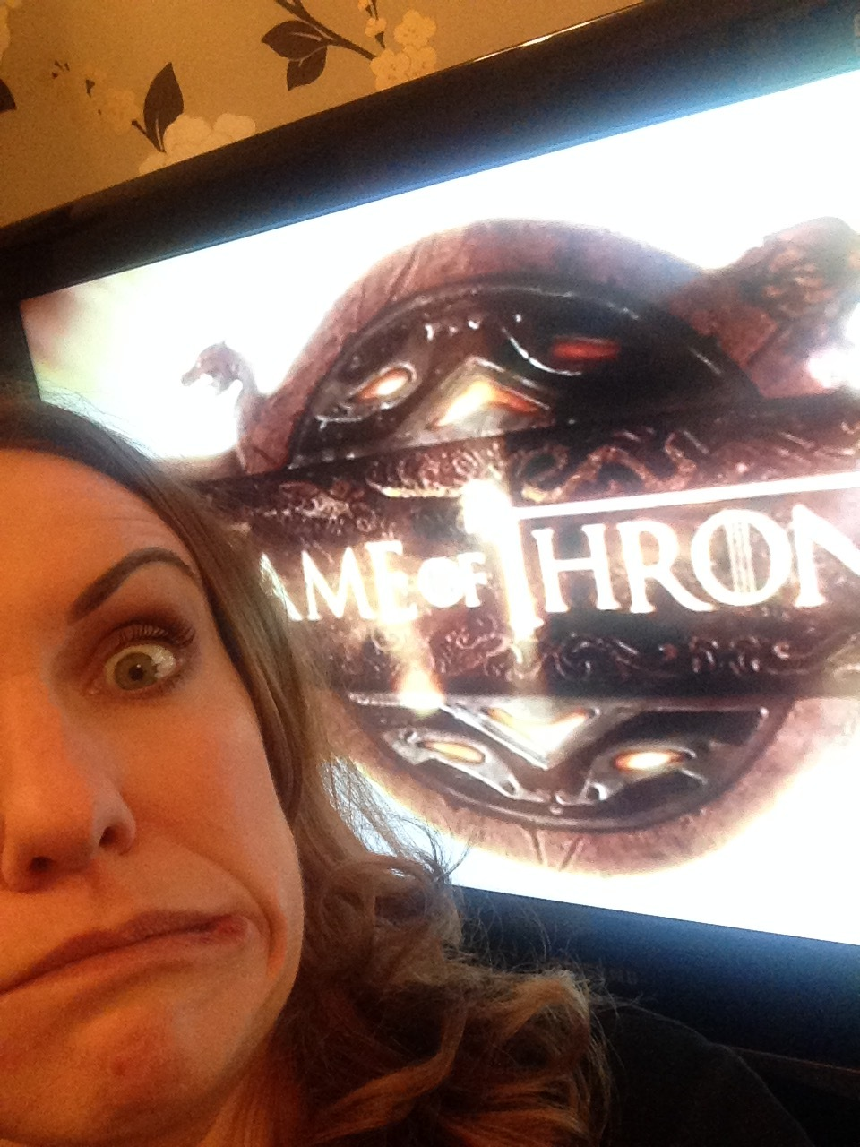Game of Thrones. And yes, I did squat in front of my telly taking selfies to get this shot!