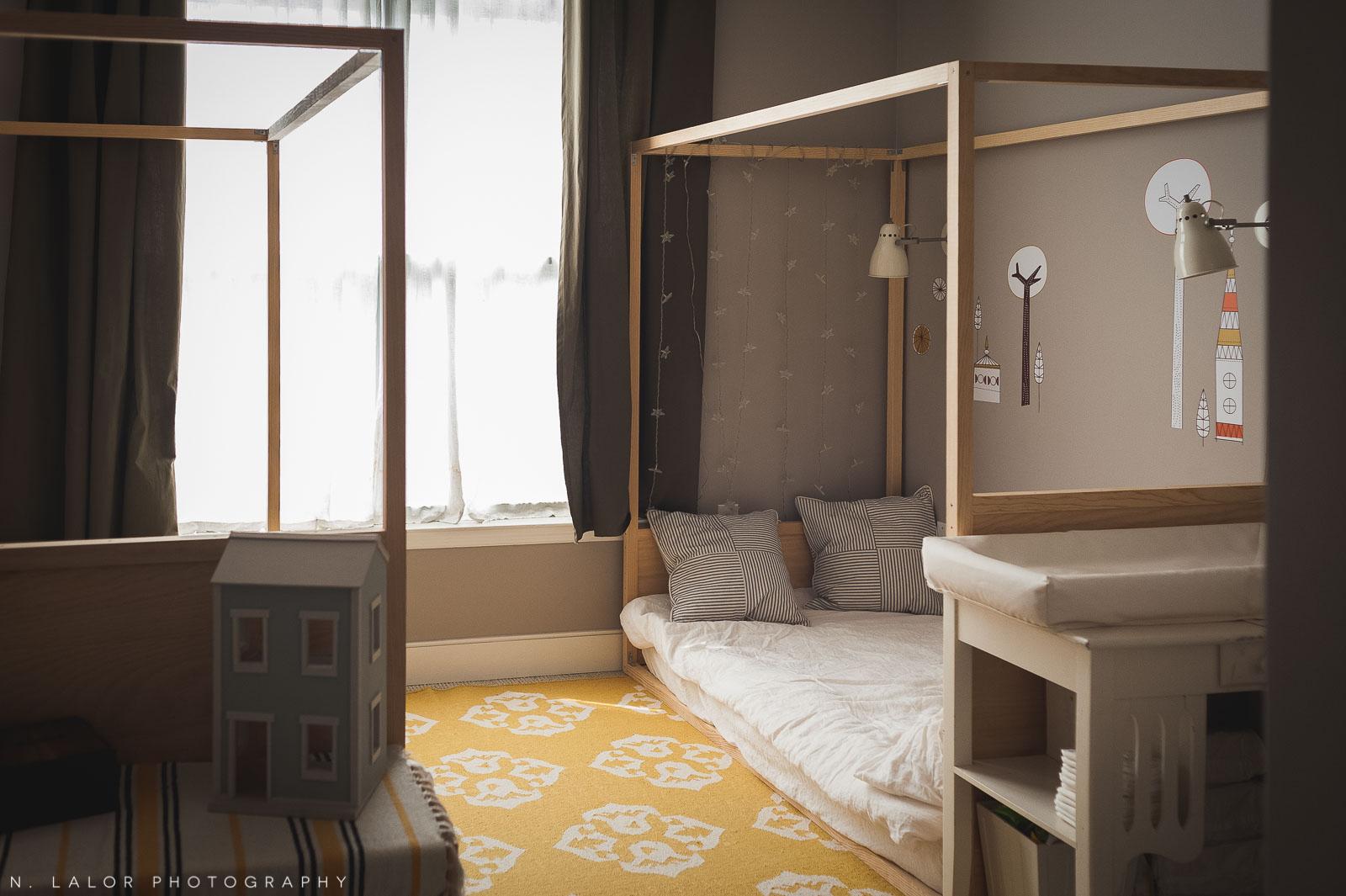 A Shared Kids Bedroom With DIY Montessori Floor Beds