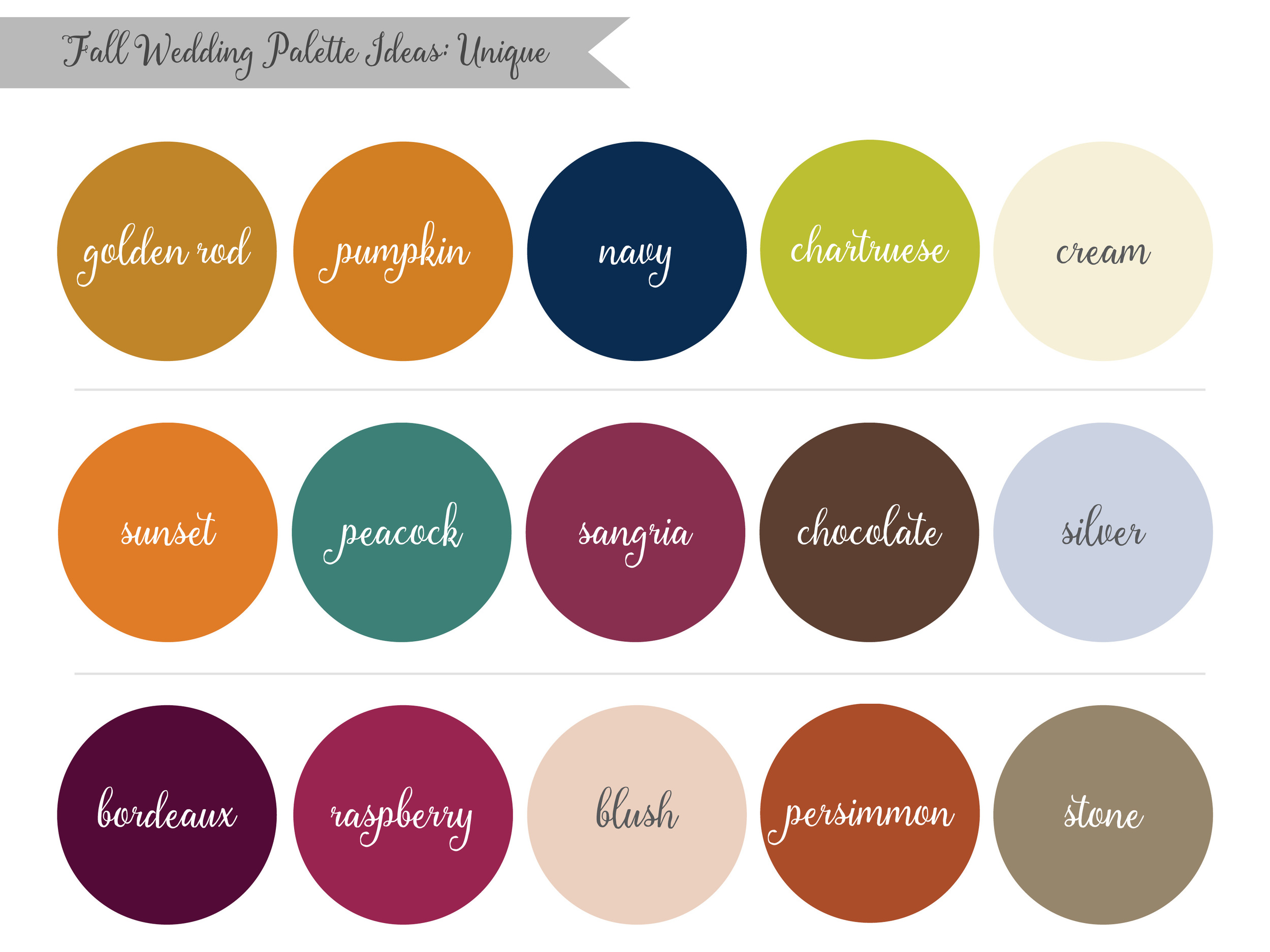 Autumn Wedding Color Palette