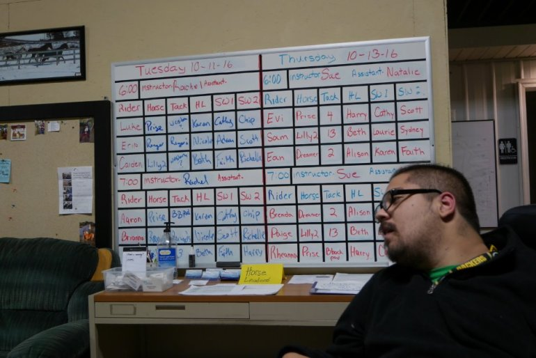 Volunteer scheduling board