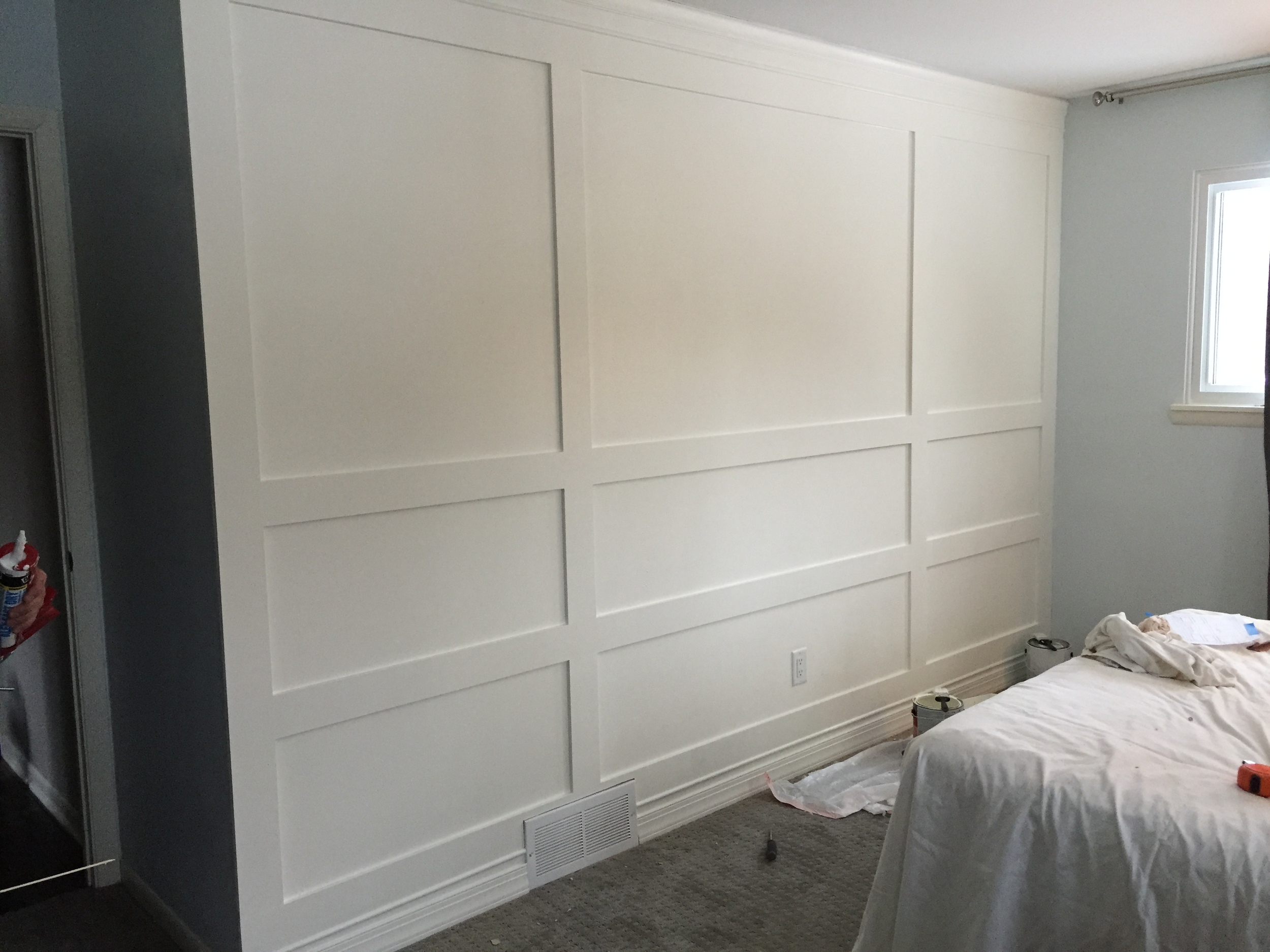 Building A Wood Paneled Wall You Can Do It Too Grand