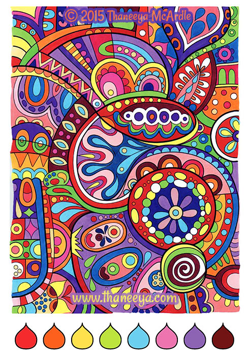 color cool coloring book by thaneeya mcardle thaneeya com
