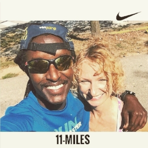 Finally got to catch up with Freddy, my favorite Kenyan 🇰🇪 🇺🇸  and long-time running pal, during an easy mid-week run. Freddy is of the high-mileage, low-intensity ilk, and his approach has me rethinking my approach for the next training cycle.I ran 4 miles, he ran 11, BTW.(Excuse my squint.Sun was very bright.)
